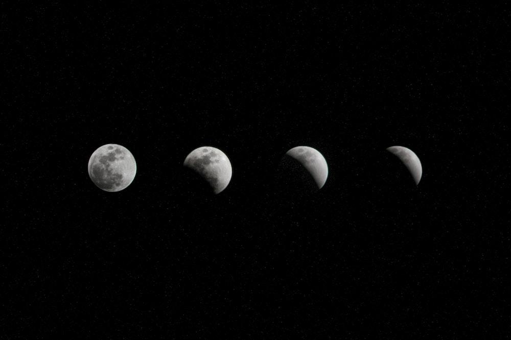 crescent moon digital wallpaper