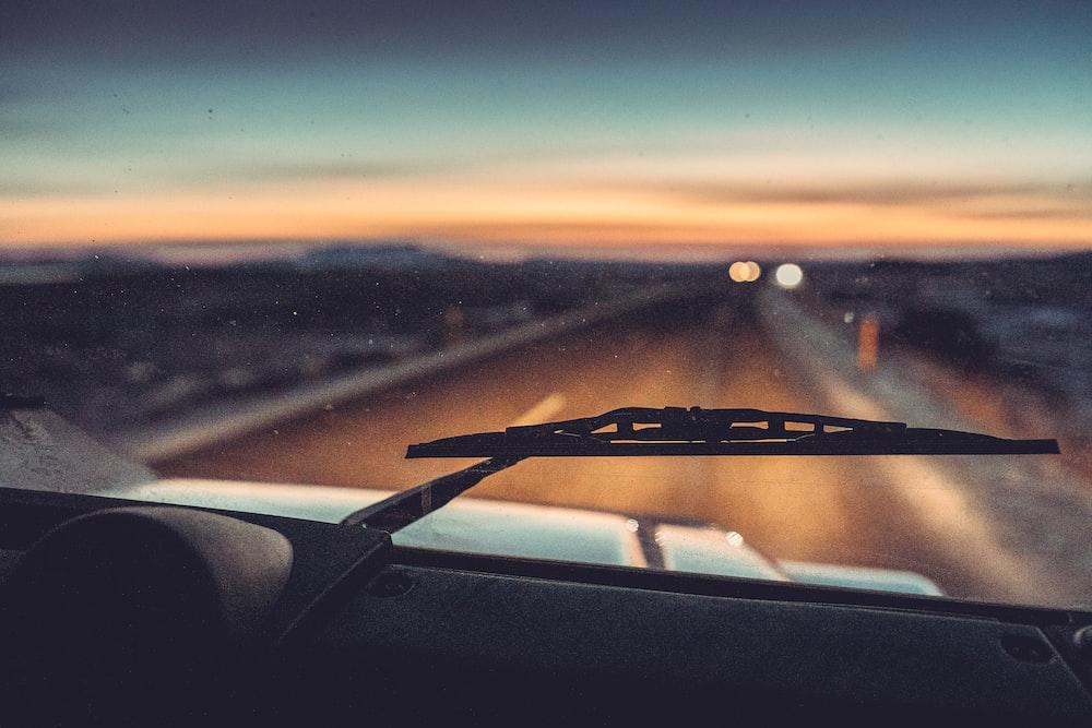 vehicle wiper on vehicle windshield