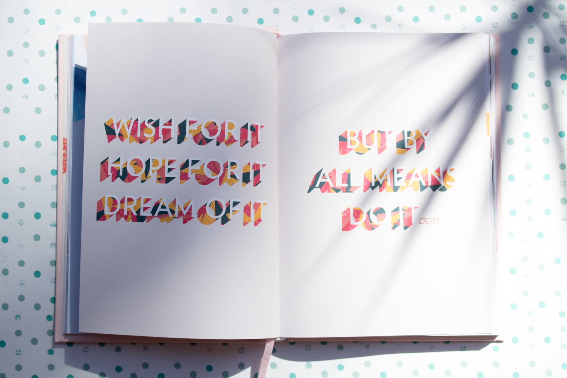 white book with text