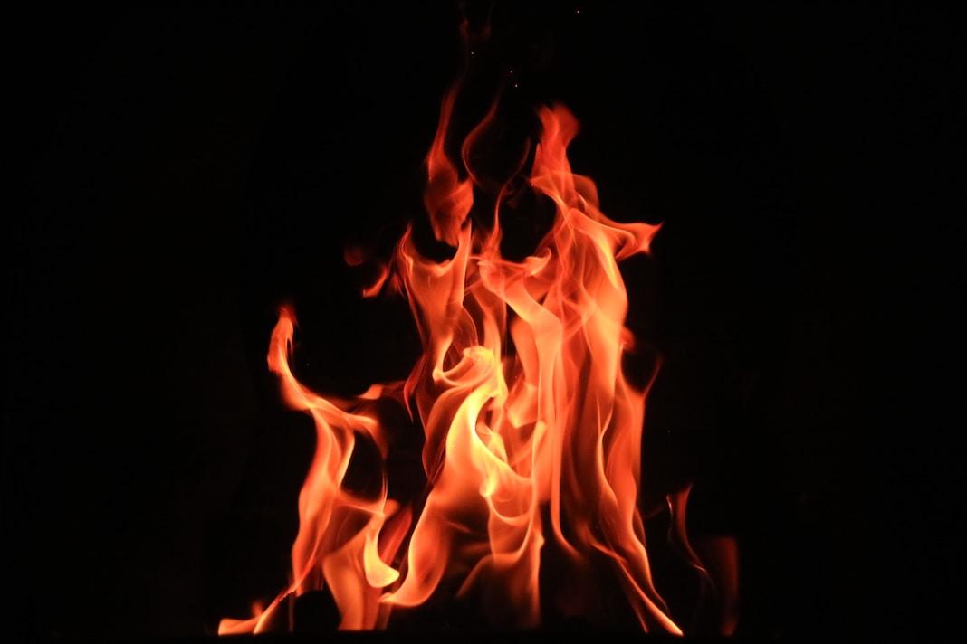 red fire digital wallpaper