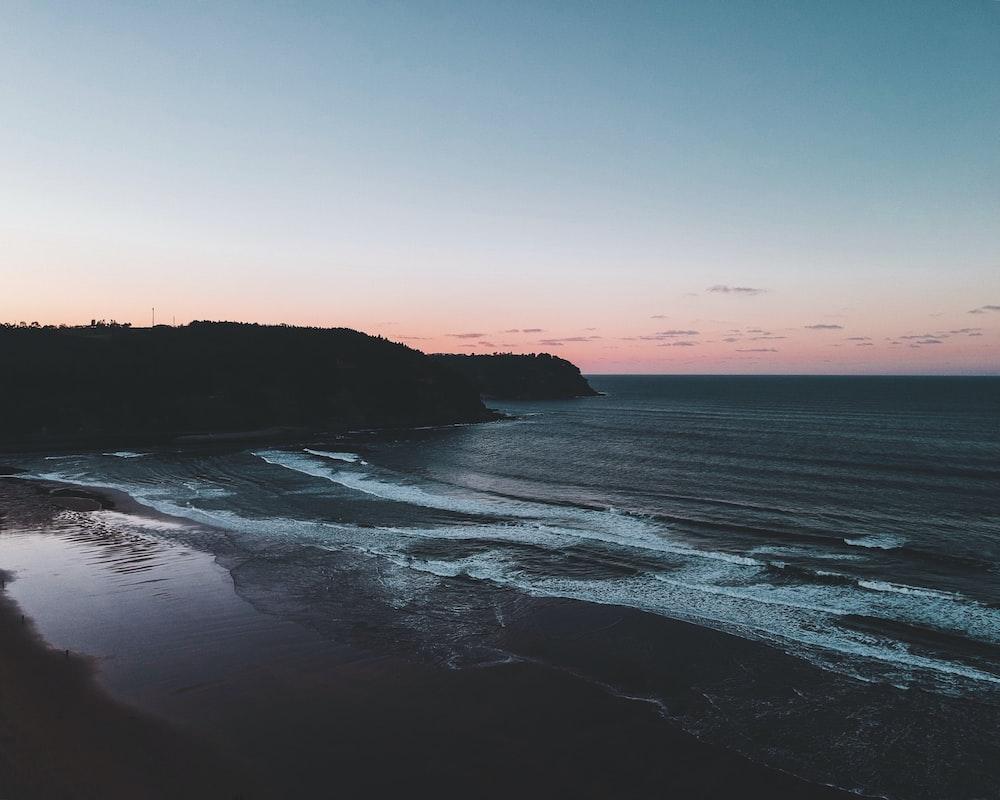 seashore during dawn