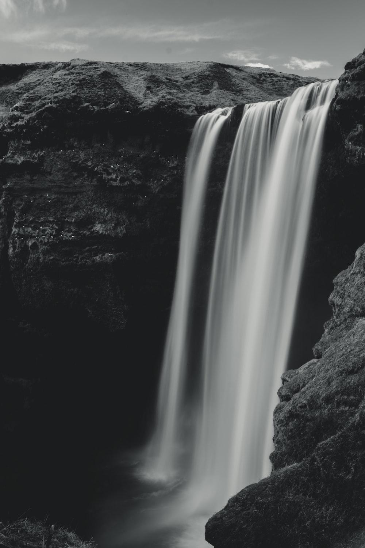waterfalls on mountains