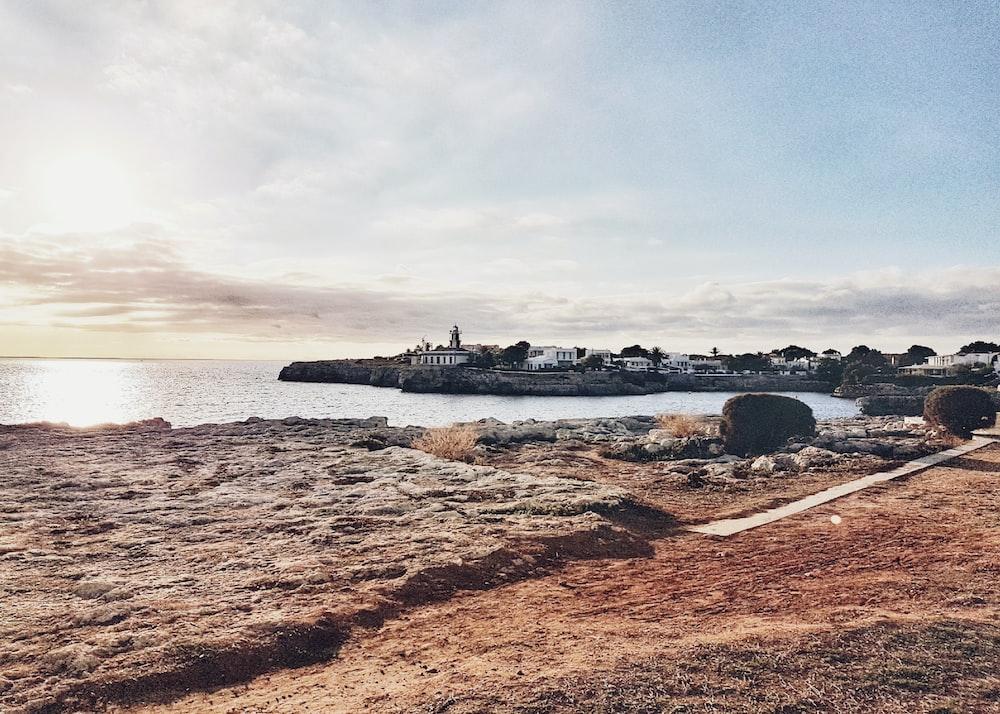 stone fragment near seashore