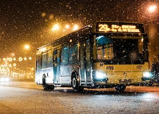 bus passing thru road
