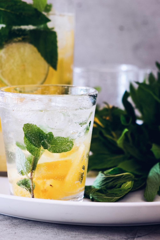 lemon tea glass