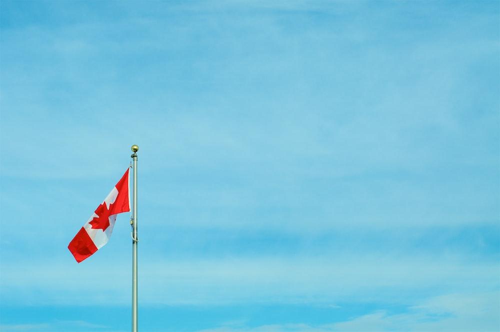 Canada flag pole