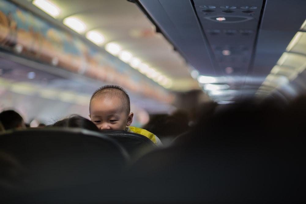 baby in passenger plane