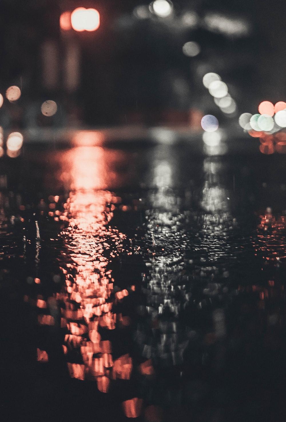 light bokeh during nighttime