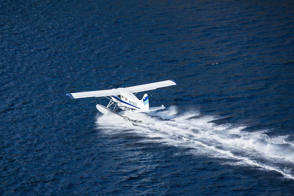 airplane landing on water