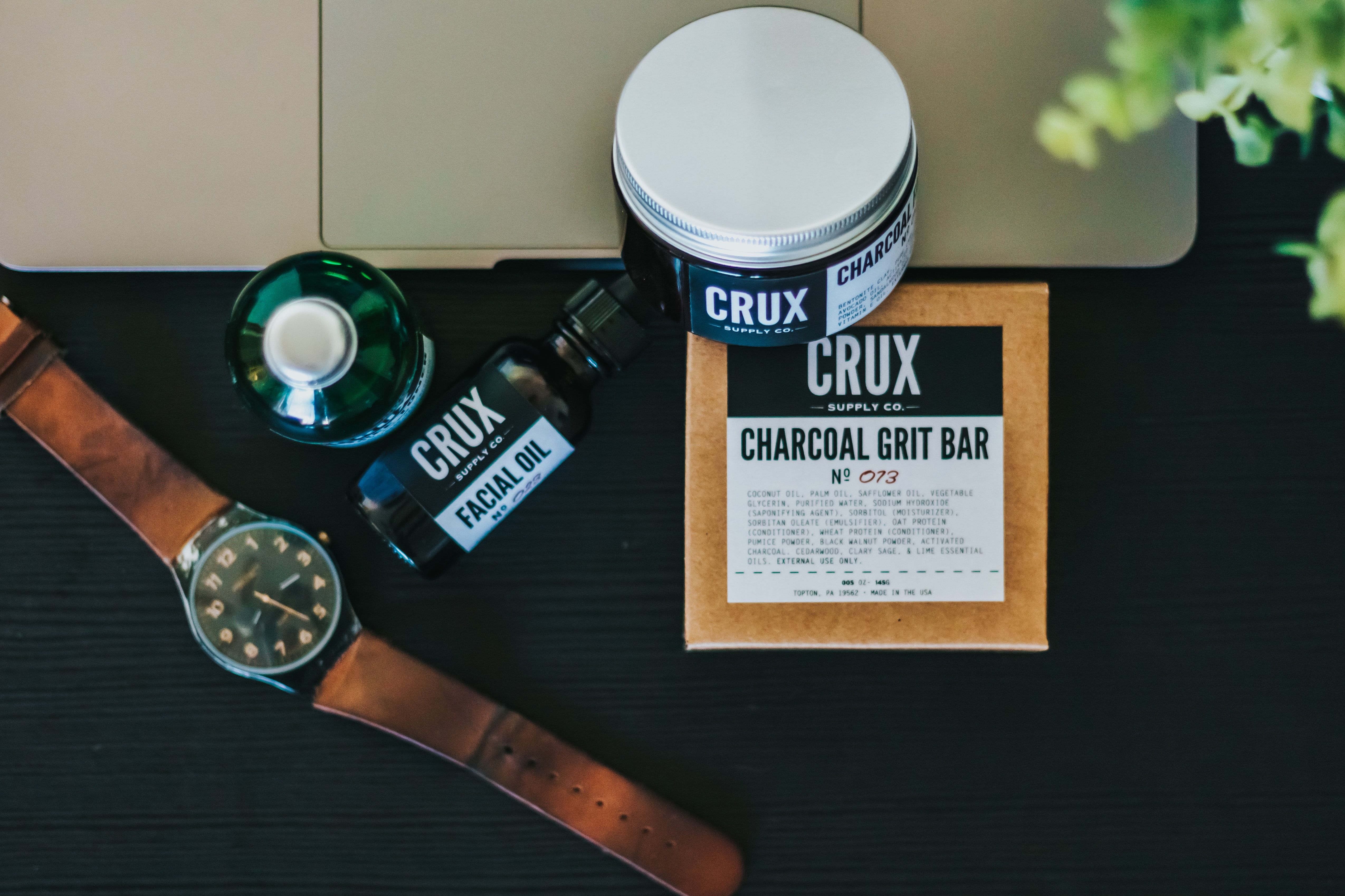Crux charcoal grit bar