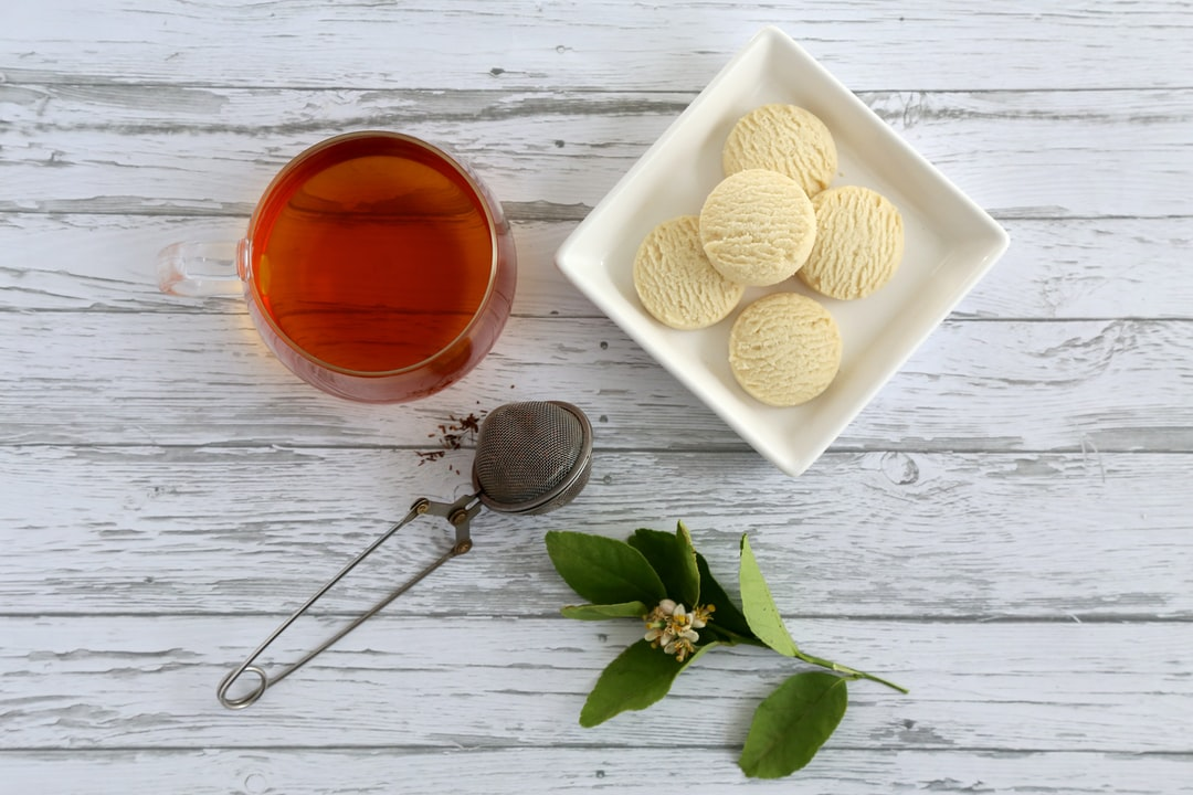 black tea and butter biscuits