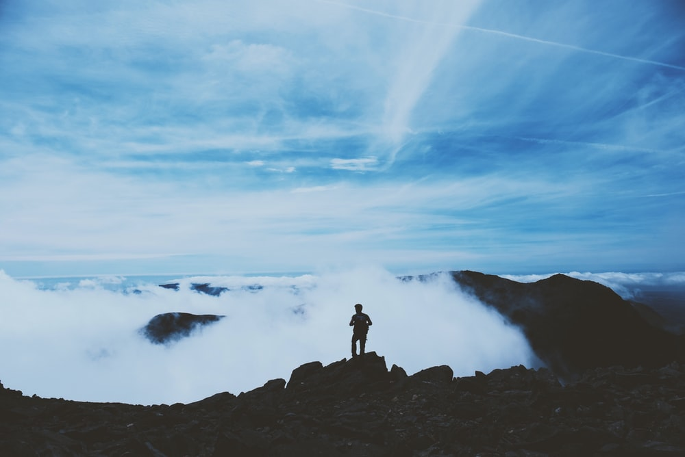 person on summit