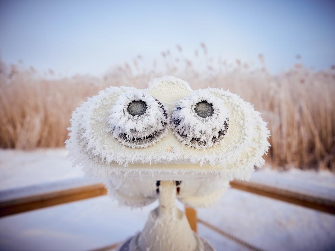 Frosty binoculars