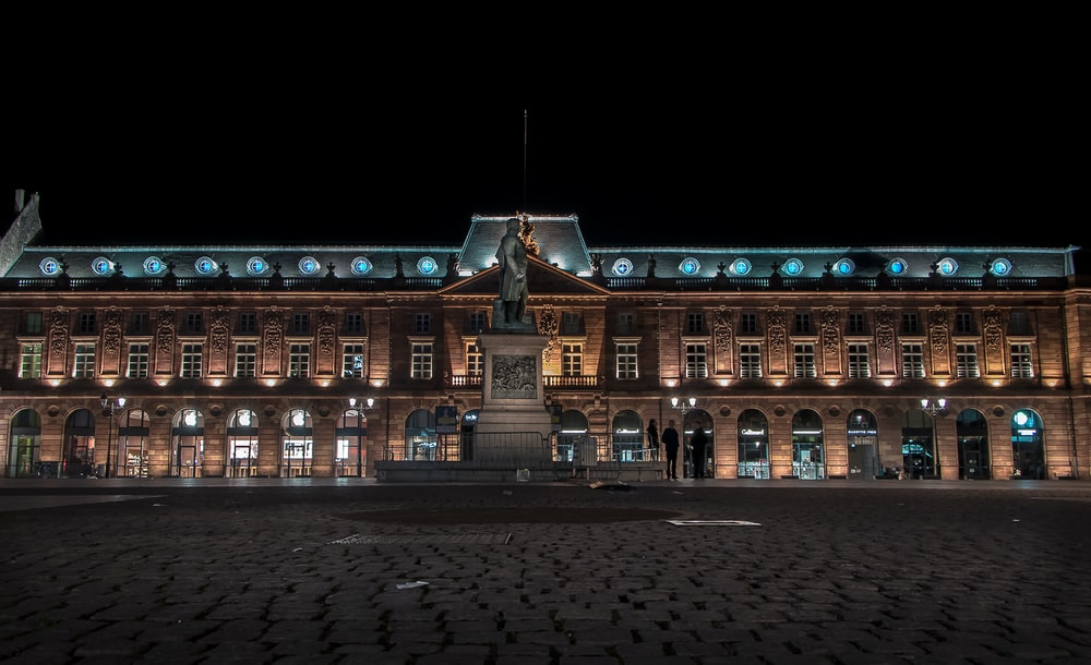 landscape photo of building during nighttime