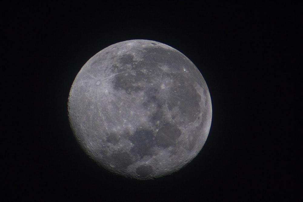 closeup photo of moon