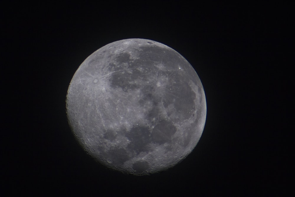 closeup photo of moon