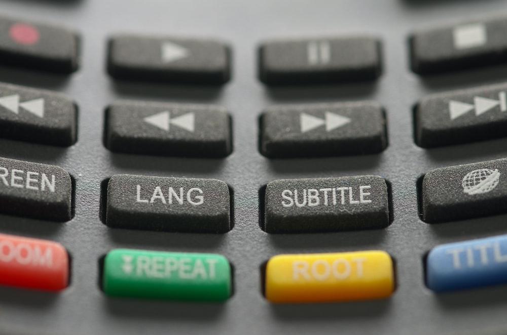 gray TV remote