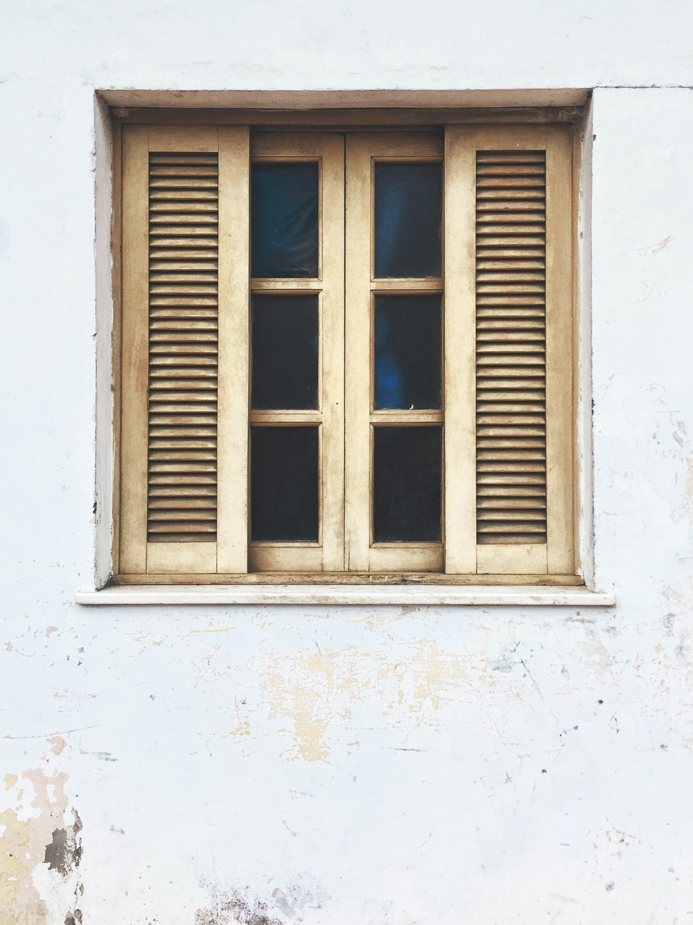brown wooden window
