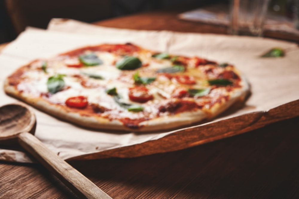 classic pizza on table