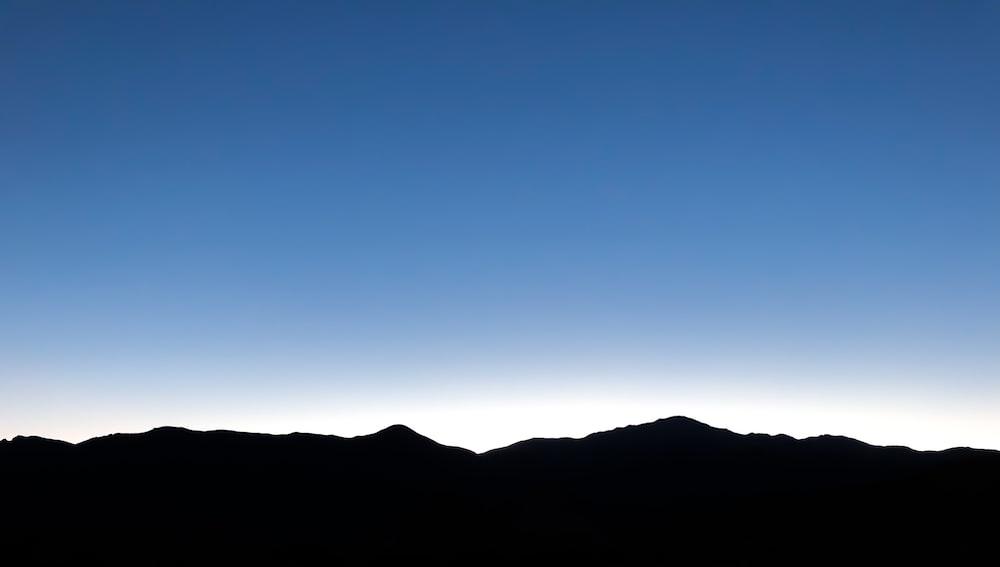 silhouette of mountain