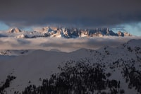 landscape photography of snowy summit