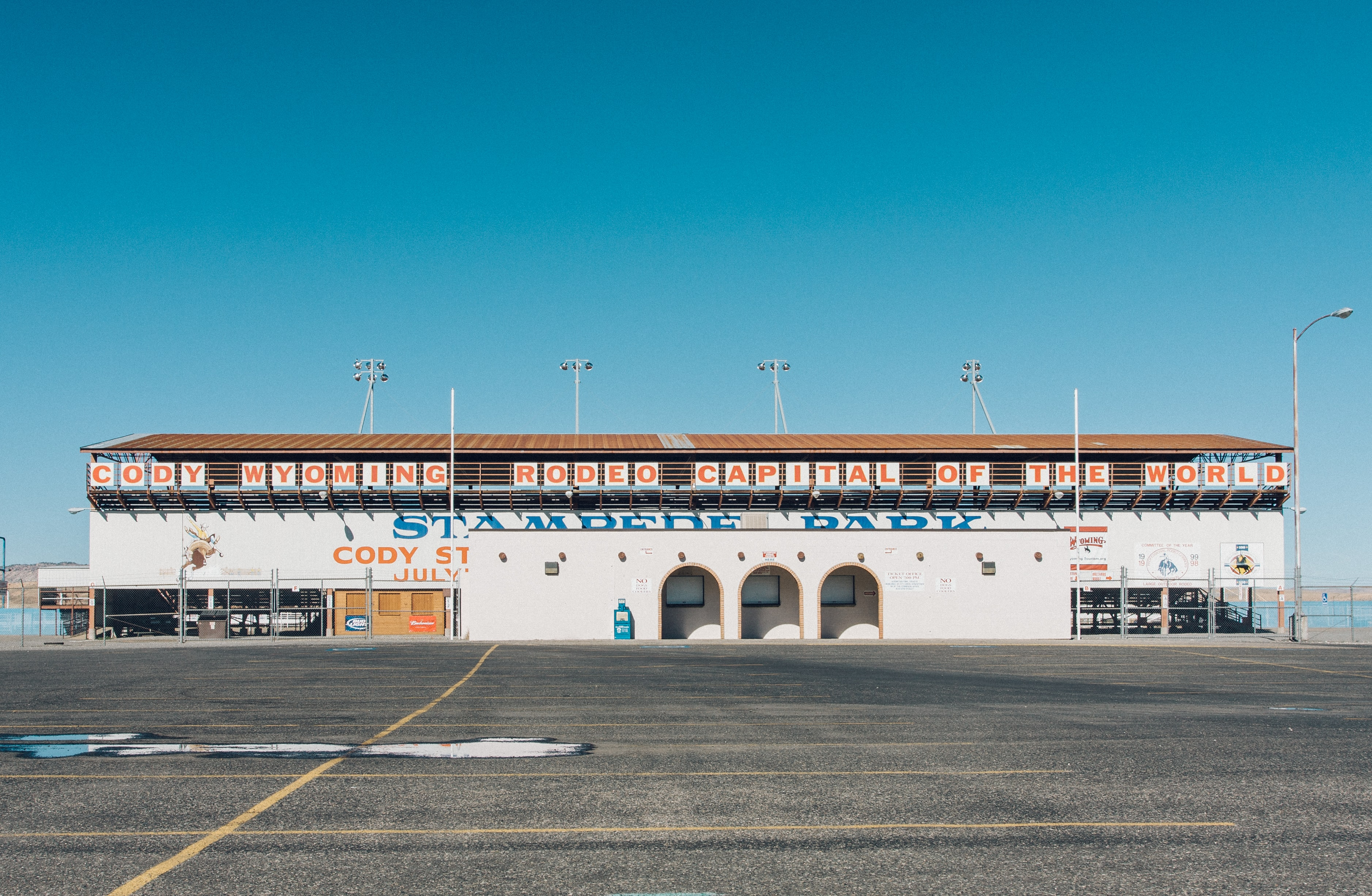 photo of empty parking lot