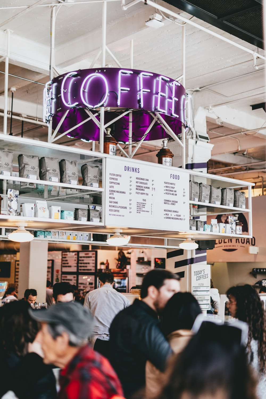 photo of lighted coffee neon light signage