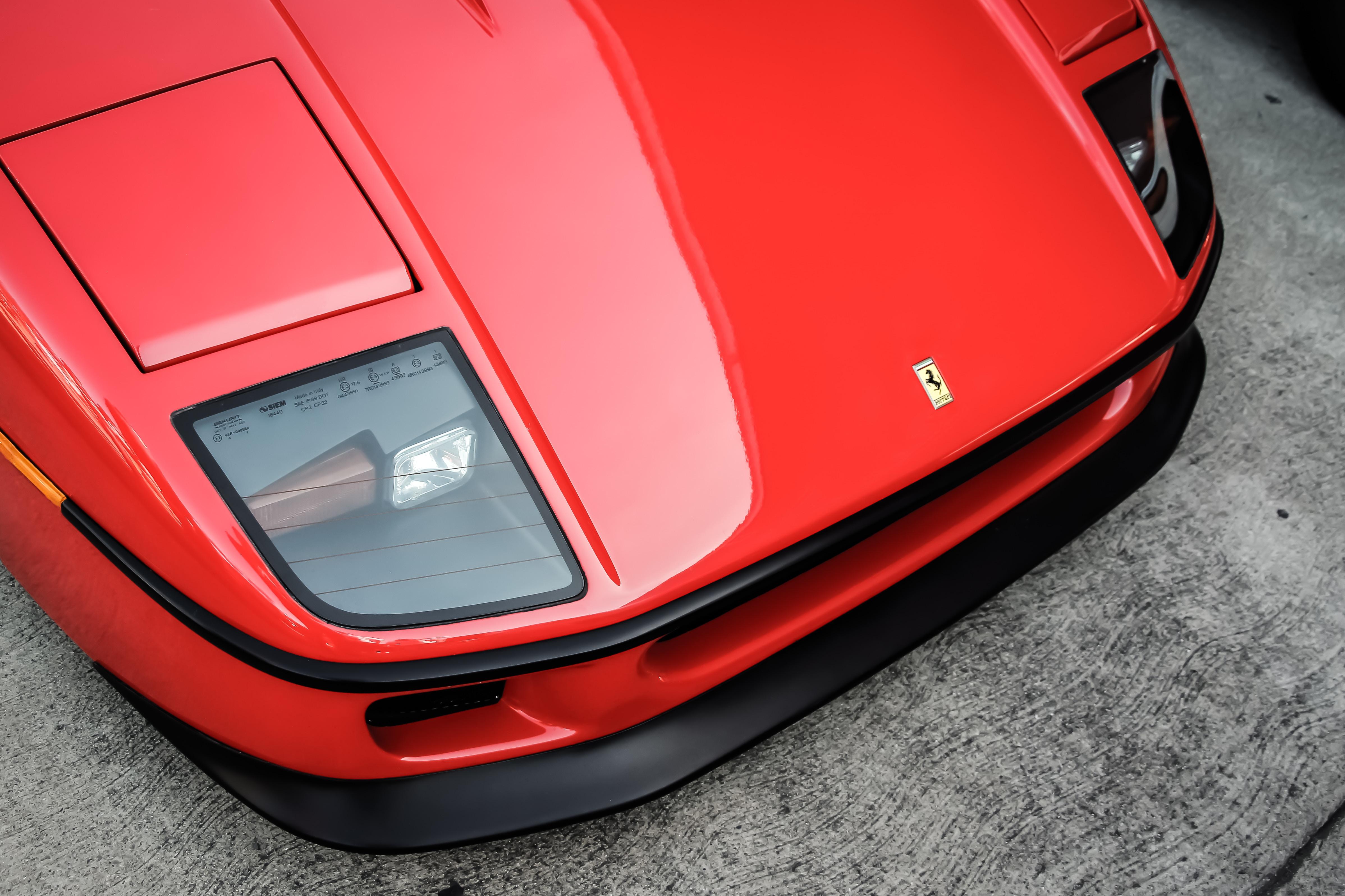 red Porsche car