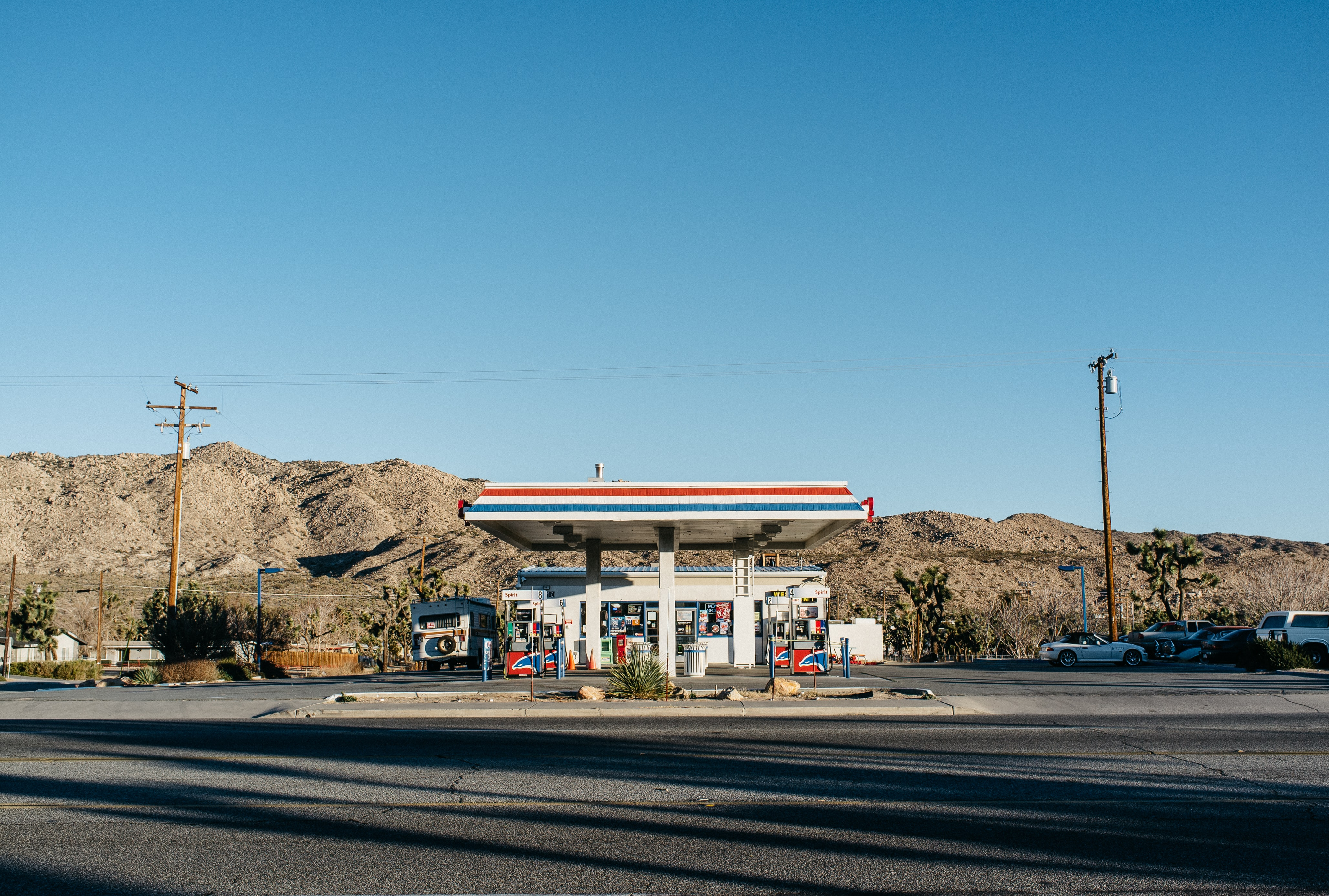 photo of gasoline station during daytime