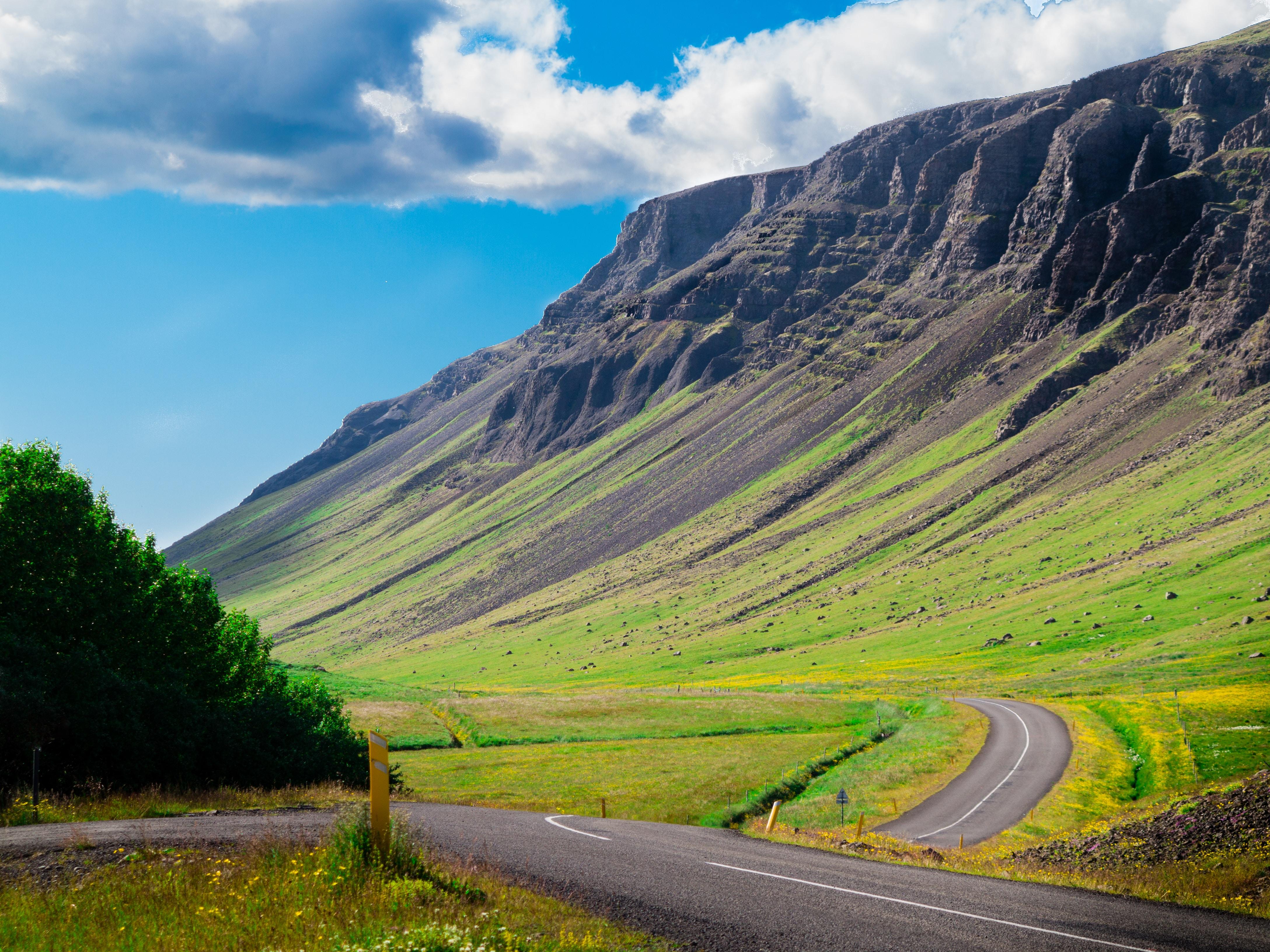 landscape photo of mountain under blue sky