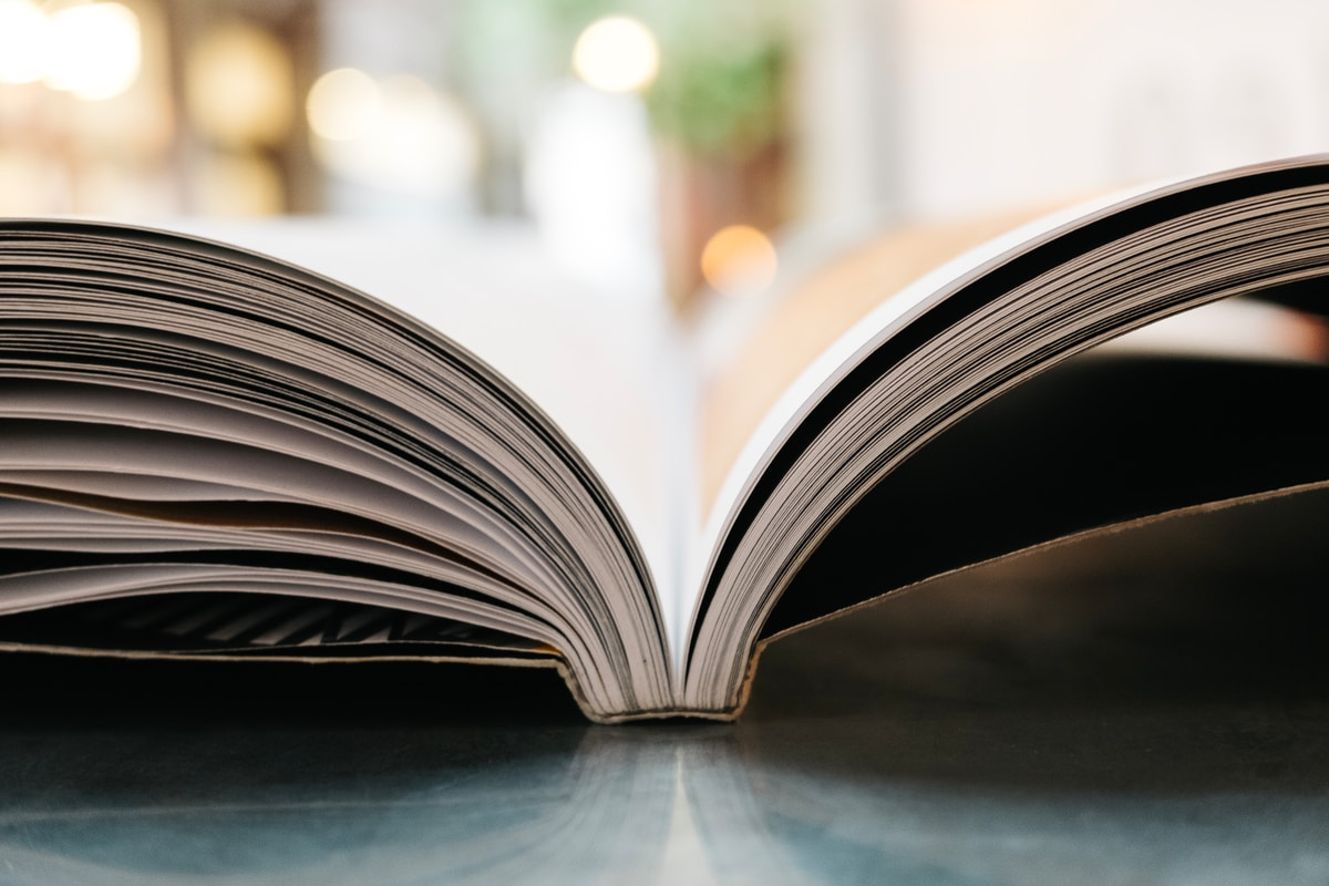Image Of An Open Book