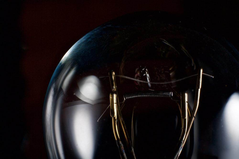 macro photography of electric bulb