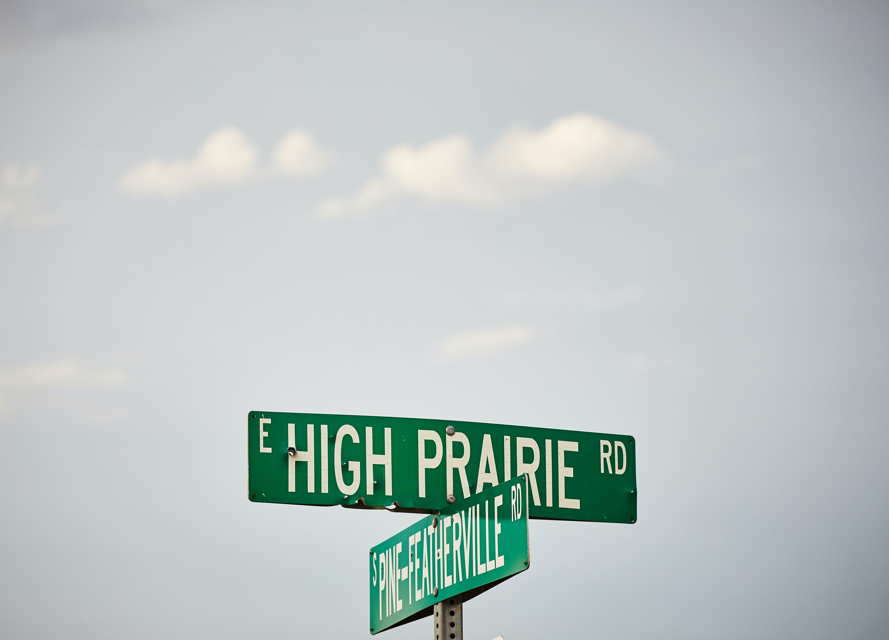 photo of High Prairie Road signage