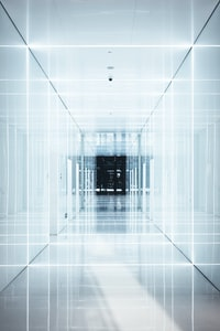 man standing on hallway