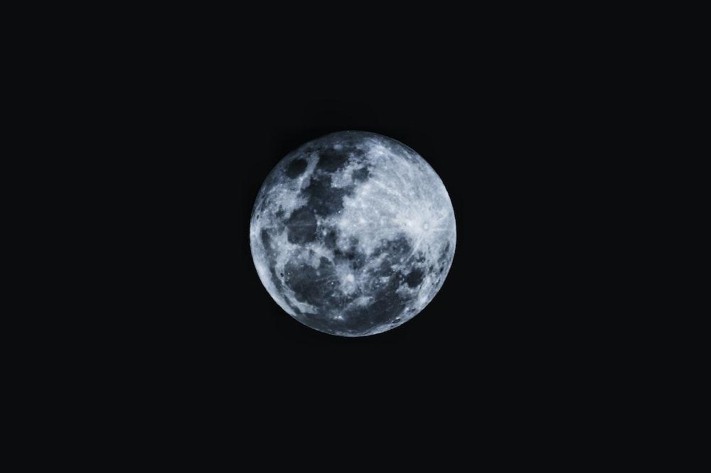 round moon with black background photo - Free Moon Image ...