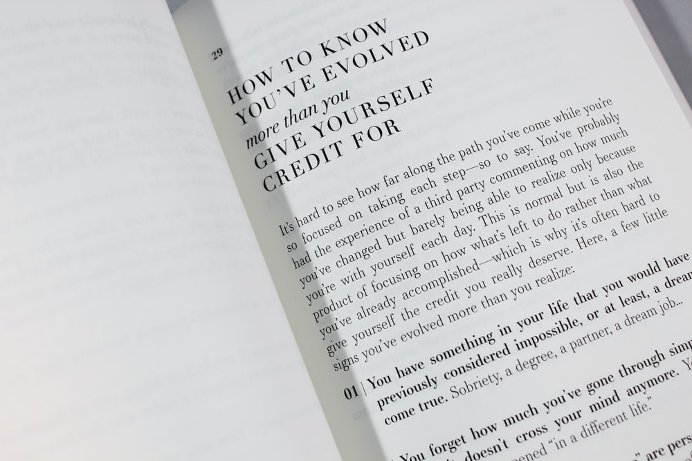 opened How to Know You've Evolved book