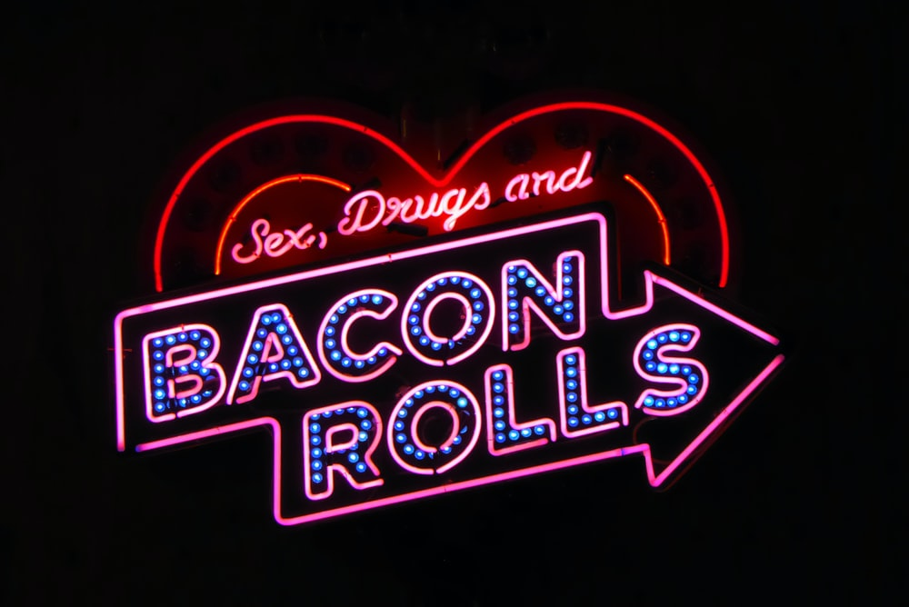 Bacon Rolls LED signage