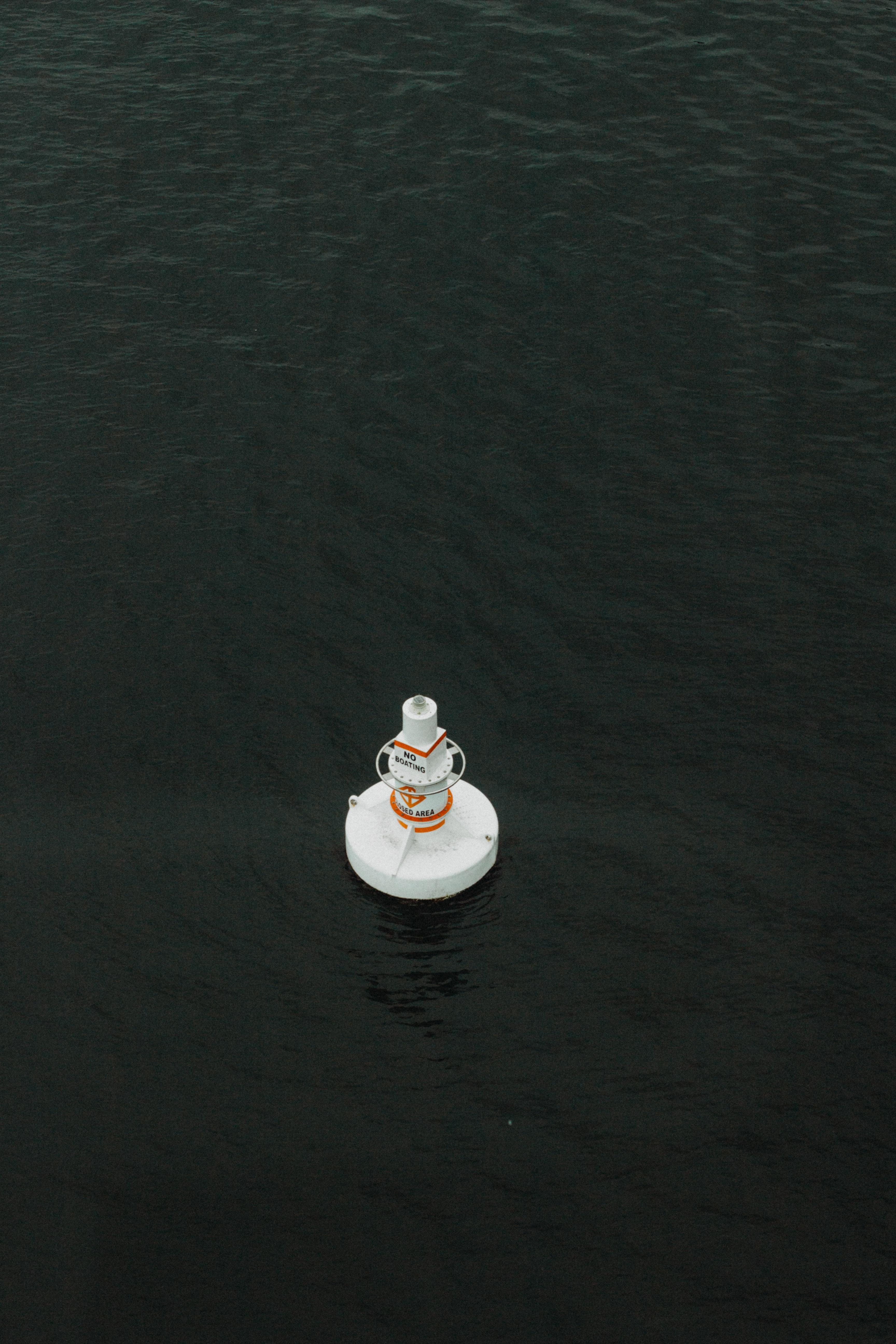 round white ornament on top of body of water floating