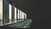 Sunlight in a tunnel in Austria