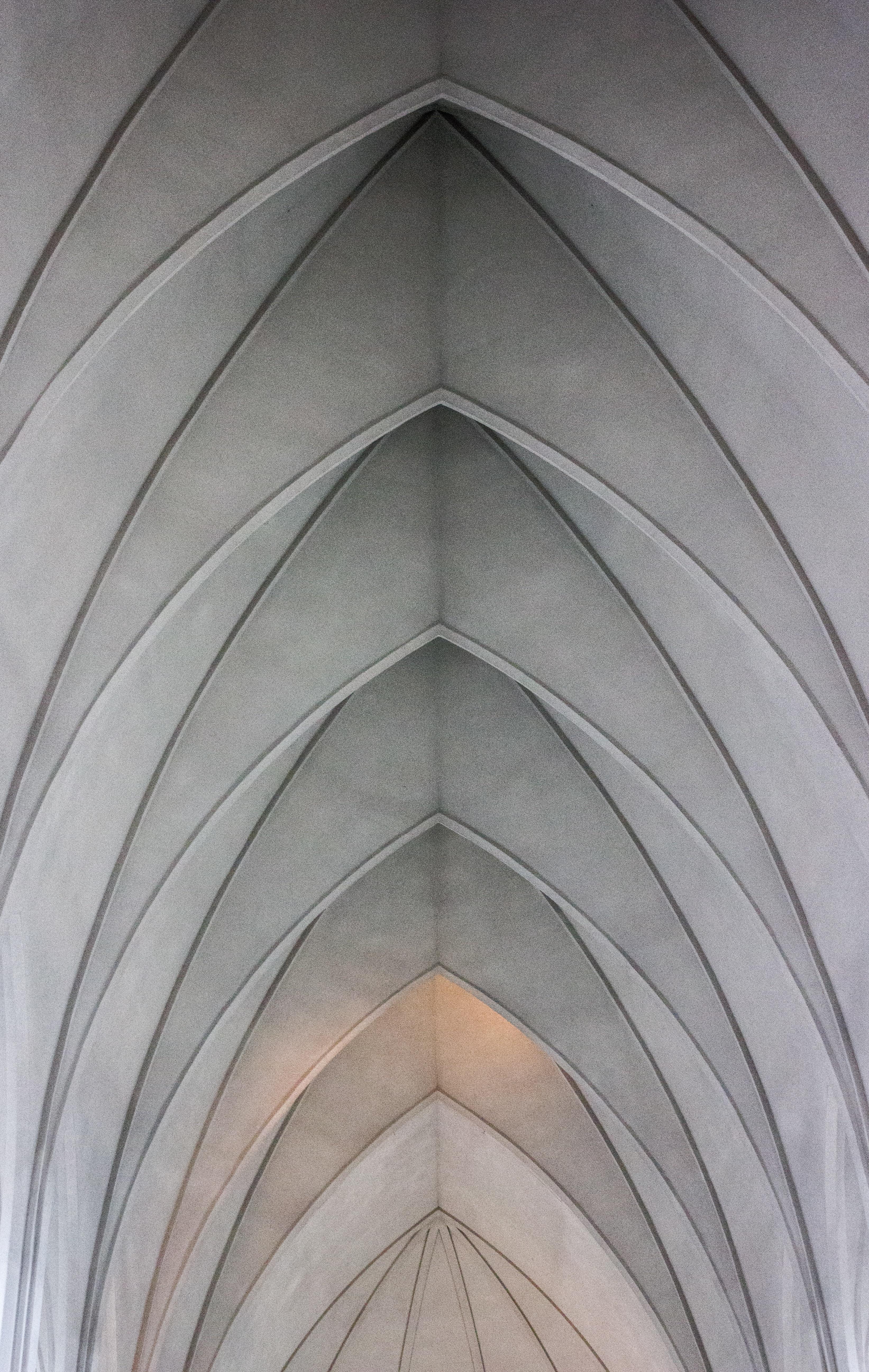 arch shaped ceiling digital wallpaper
