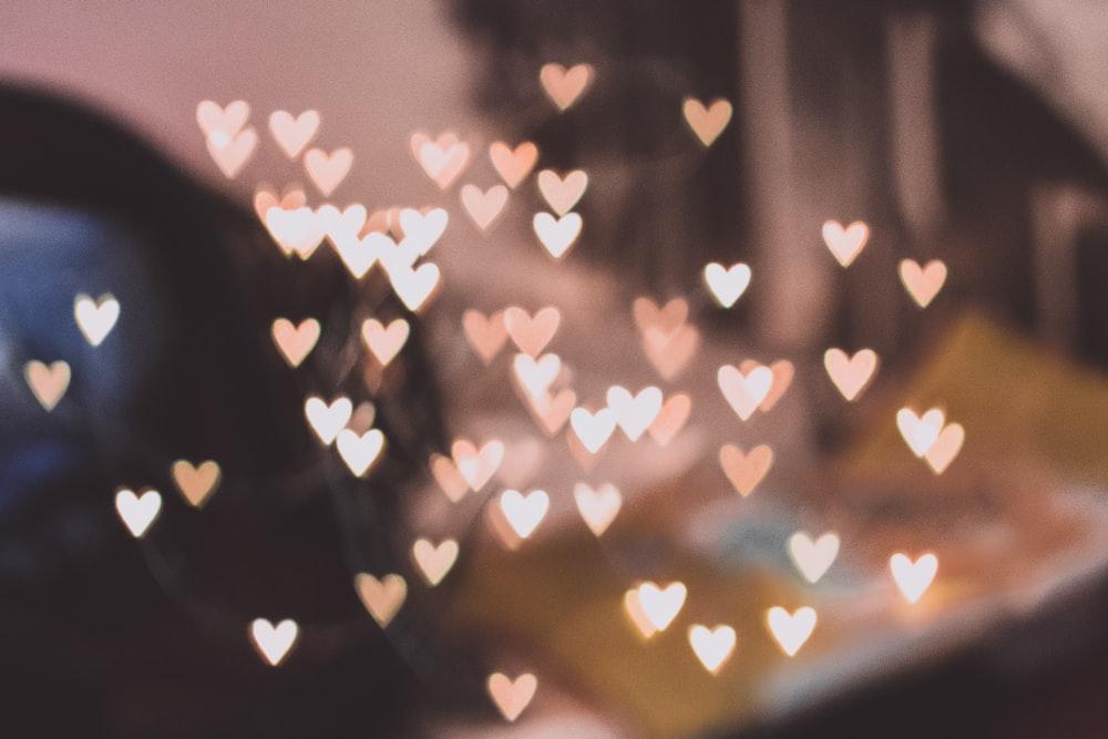 pink heart lights decors