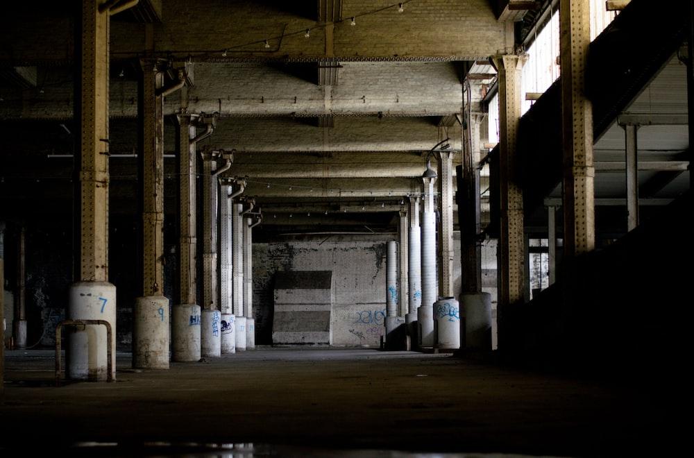 concrete building interior photo