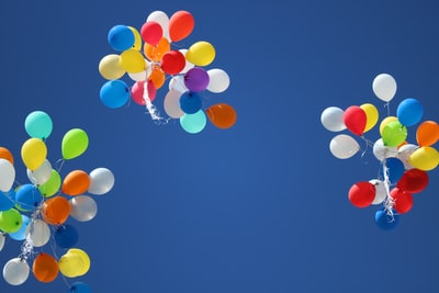 balloons in the sky balloons teams background