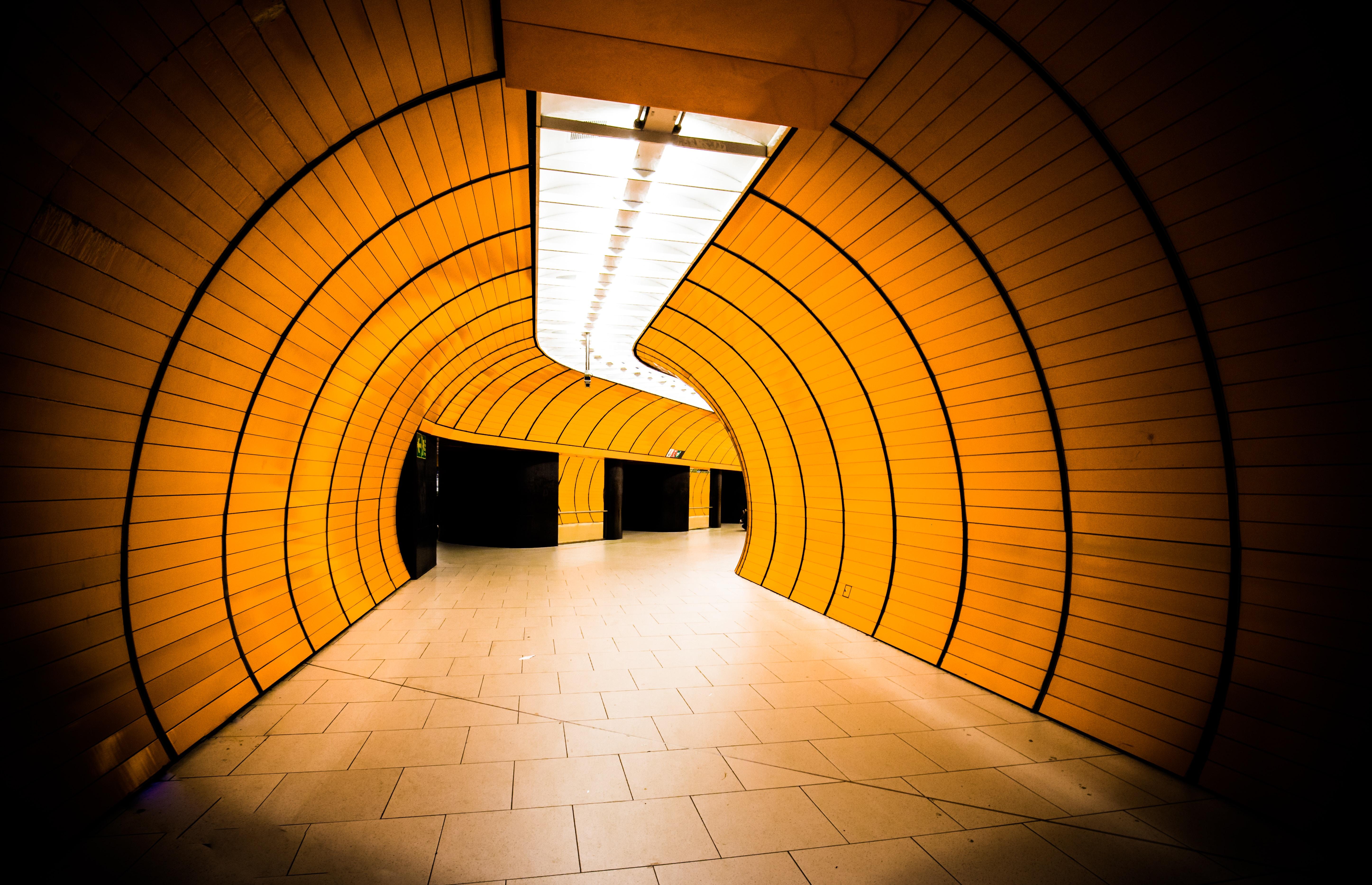 orange wall paint interior