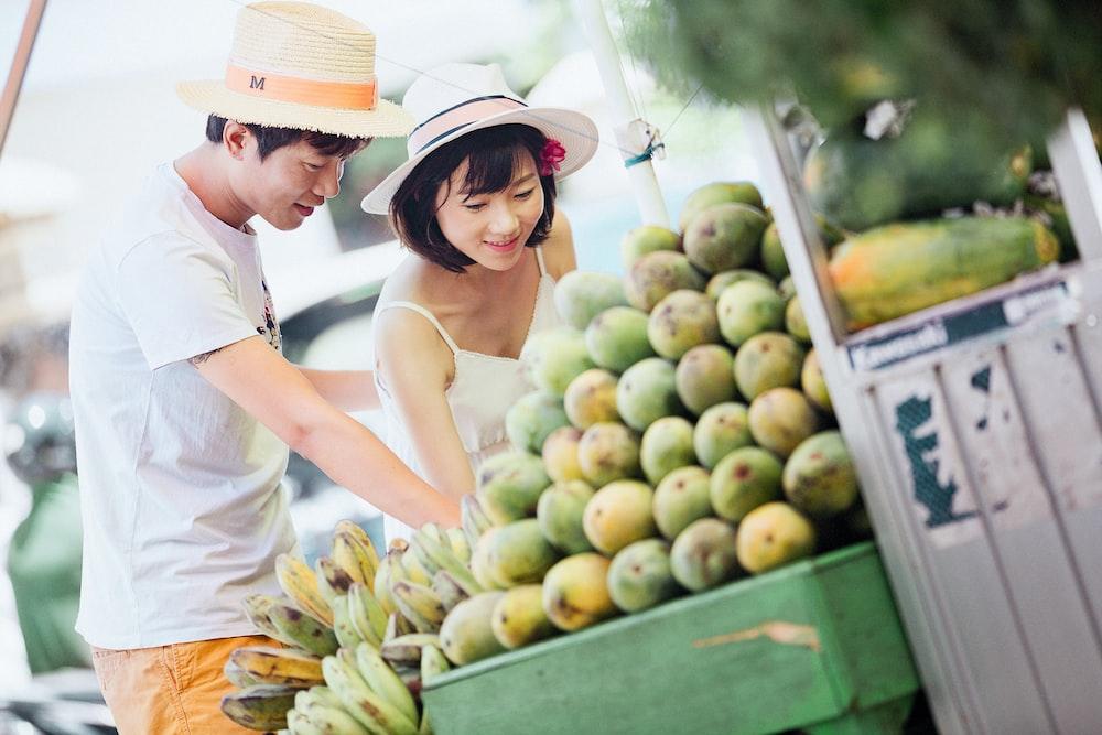 woman picking fruits