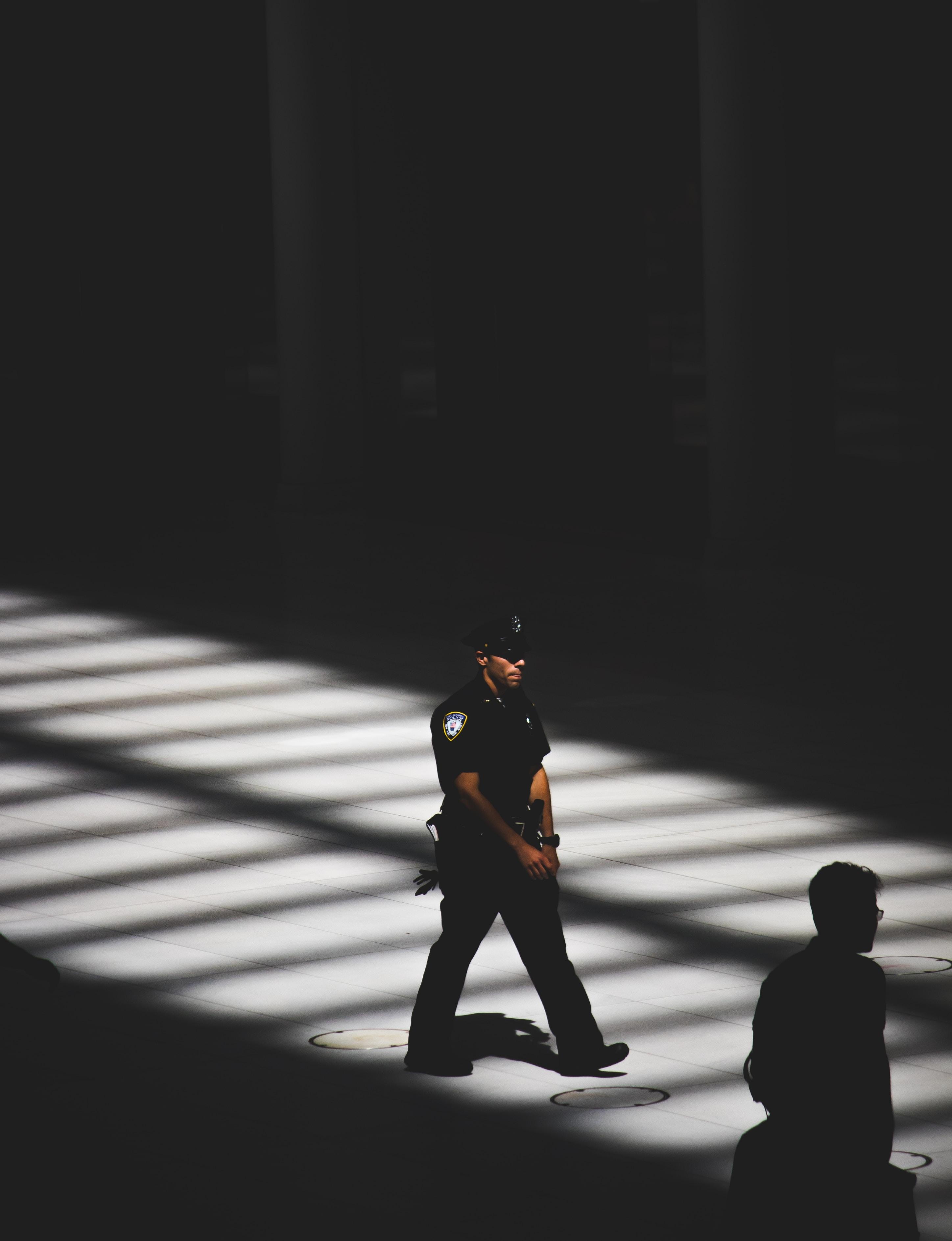 man in black police uniform