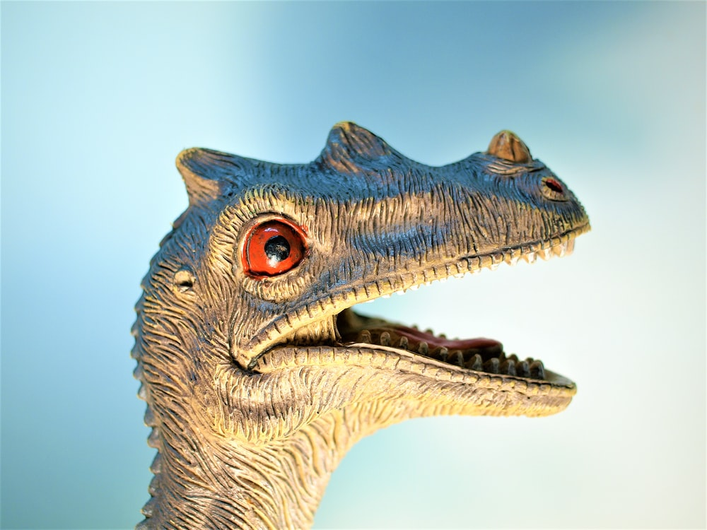 close-up photo of Dinosaur figurine