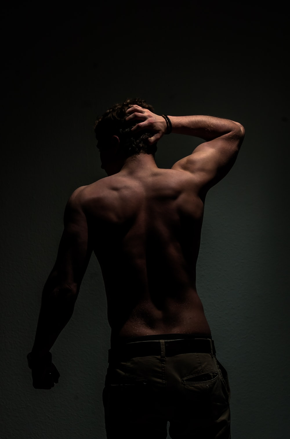 photo of topless man