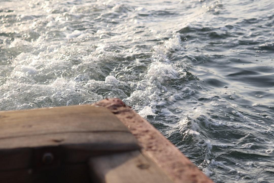 boat in sea قایق در دریا