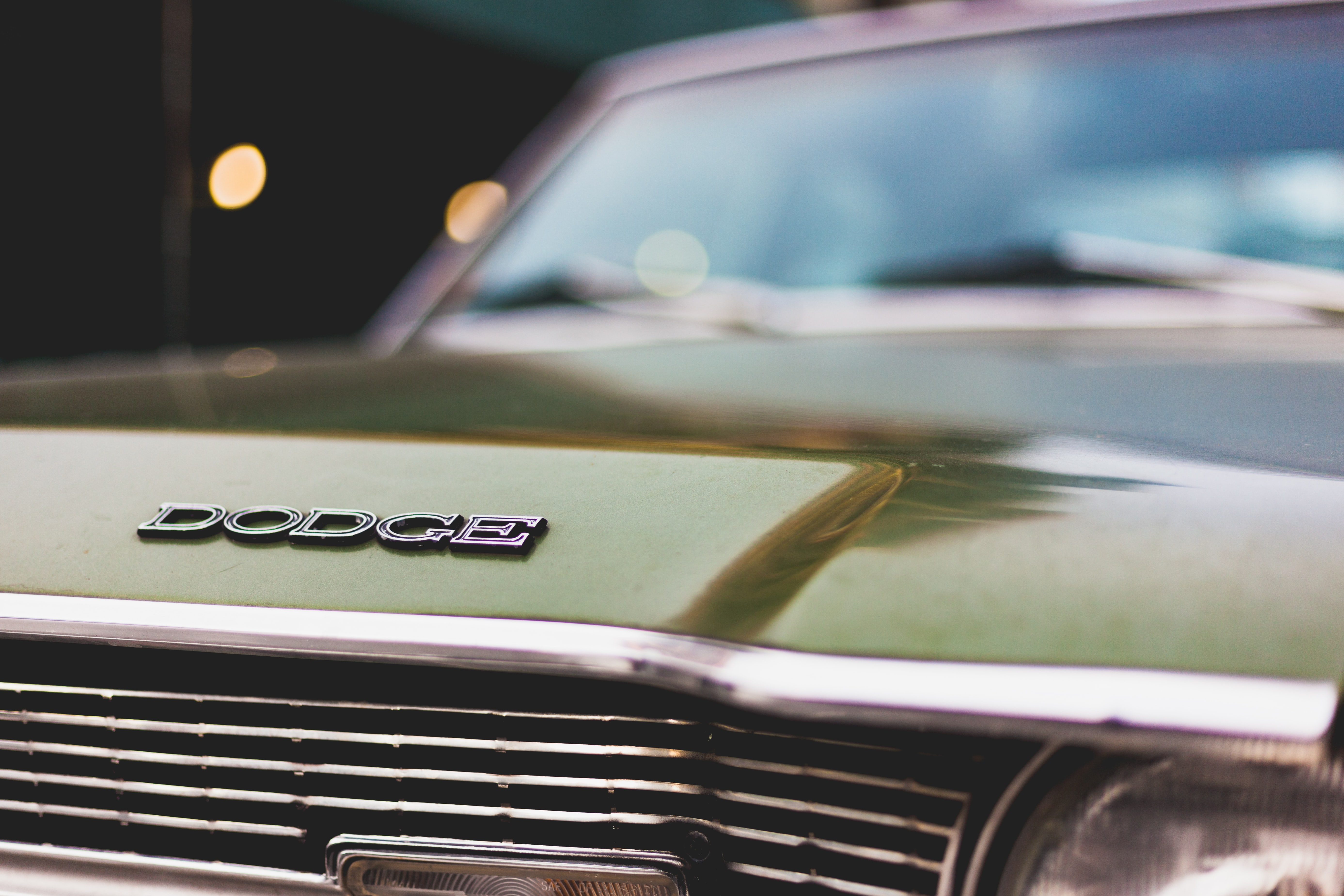 green Dodge car